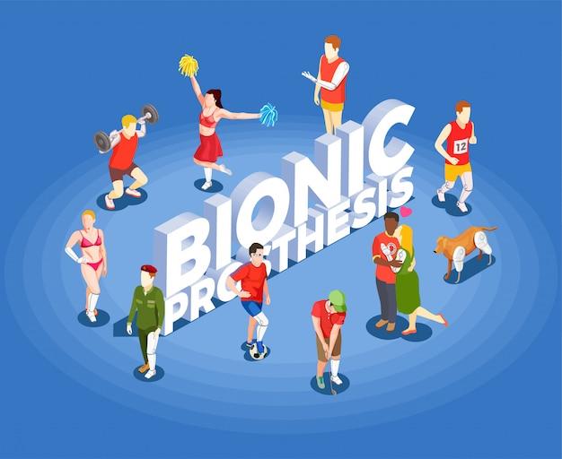 Illustration Vectorielle Isométrique De Prothèse Bionique Vecteur gratuit