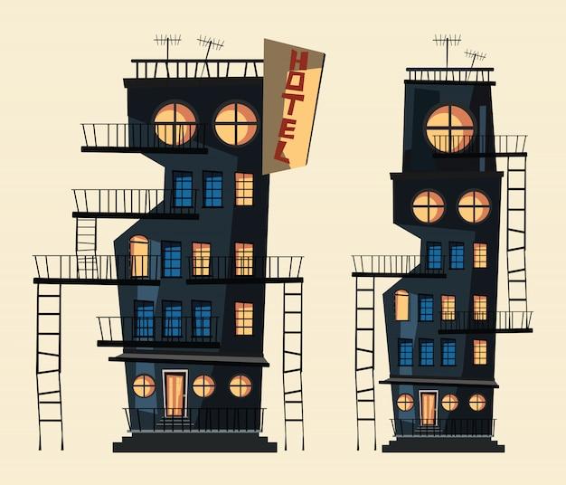 Illustration vectorielle jeu de construction Vecteur Premium
