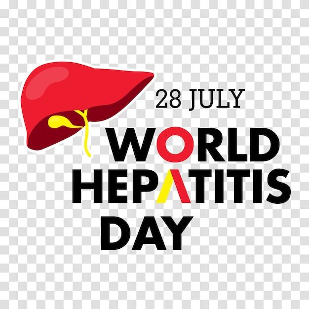 Illustration vectorielle de la journée mondiale de l'hépatite Vecteur Premium