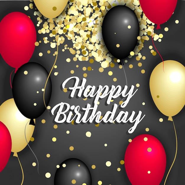 Illustration vectorielle joyeux anniversaire. Vecteur Premium