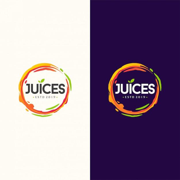 Illustration vectorielle de jus logo design Vecteur Premium