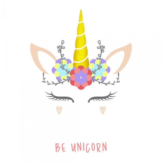Illustration vectorielle licorne mignon. Vecteur Premium