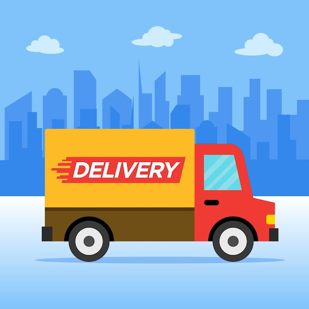 Illustration vectorielle de livraison service Vecteur Premium