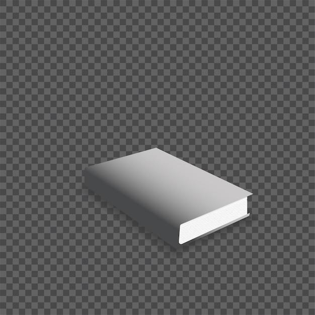Illustration vectorielle de livre réaliste maquette. Vecteur Premium