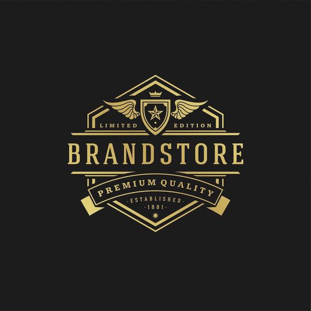 Illustration vectorielle de luxe logo design modèle. Vecteur Premium