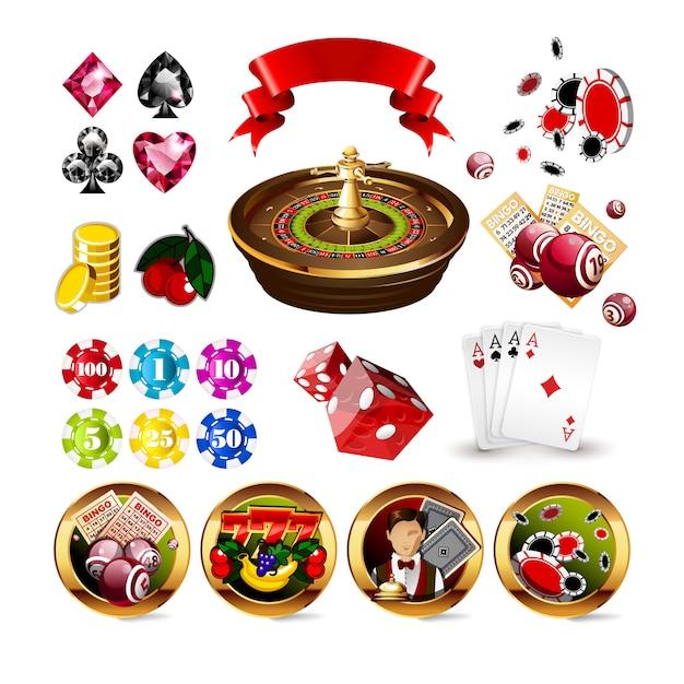 Illustration vectorielle de luxe rouge casino jeu fond Vecteur Premium