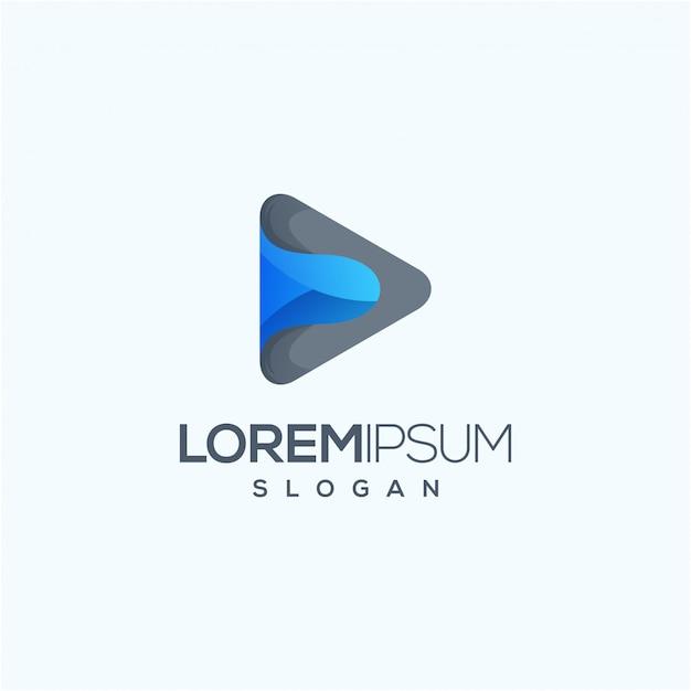 Illustration vectorielle de médias logo design prêt à l'emploi Vecteur Premium
