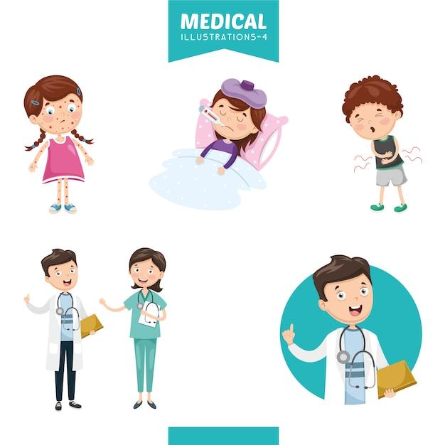 Illustration vectorielle de médical Vecteur Premium