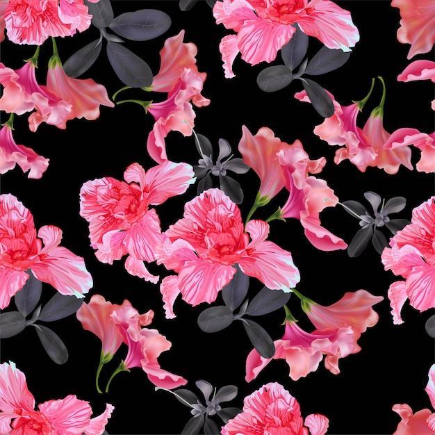 Illustration Vectorielle Motif Floral Sans Soudure Vecteur Premium