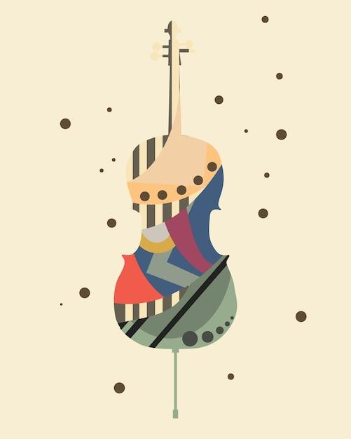 Illustration vectorielle de musique art fond Vecteur Premium