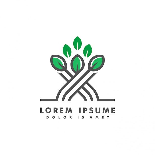 Illustration vectorielle de narture paysage logo Vecteur Premium