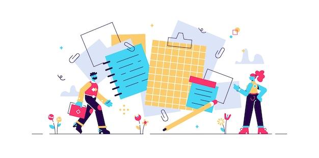 Illustration Vectorielle De Notes. Vecteur Premium