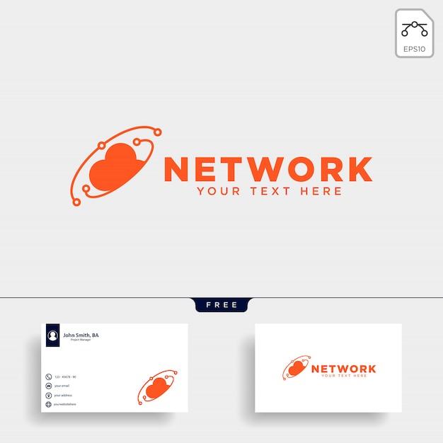 Illustration vectorielle de nuage connexion logo modèle Vecteur Premium