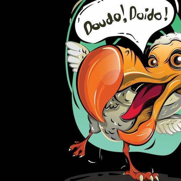 Illustration vectorielle de l'oiseau dodo Vecteur Premium