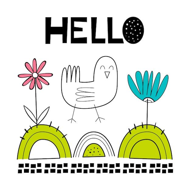 Illustration vectorielle d'un oiseau Vecteur Premium
