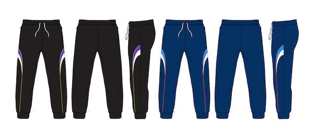 Illustration vectorielle de pantalons de survêtement. Vecteur Premium