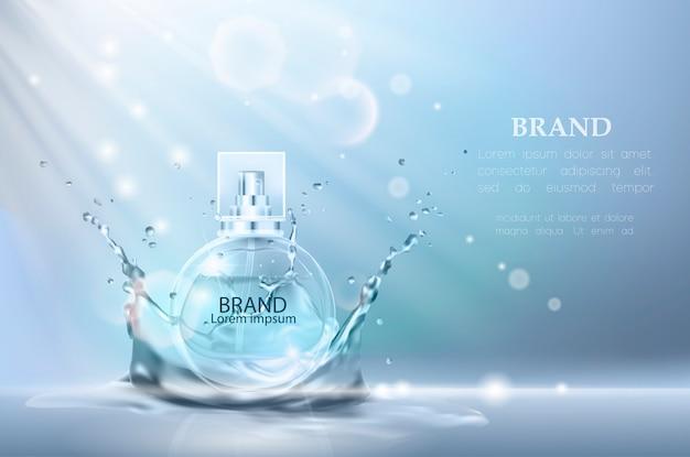 Illustration Vectorielle D'un Parfum De Style Réaliste. Vecteur Premium
