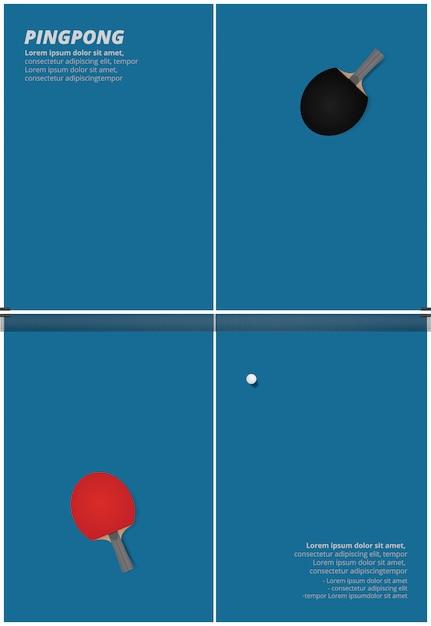 Illustration vectorielle de ping-pong Vecteur Premium