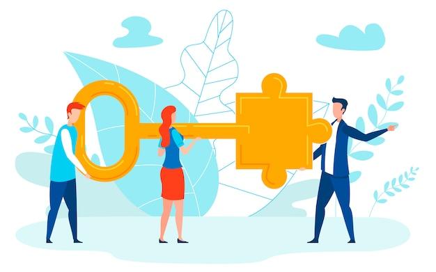 Illustration vectorielle plane experts en résolution de problèmes Vecteur Premium