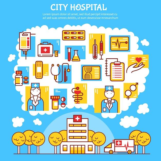 Illustration vectorielle plat médical Vecteur gratuit