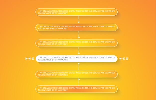 Illustration Vectorielle Pour Les Diagrammes Infographiques Vecteur Premium