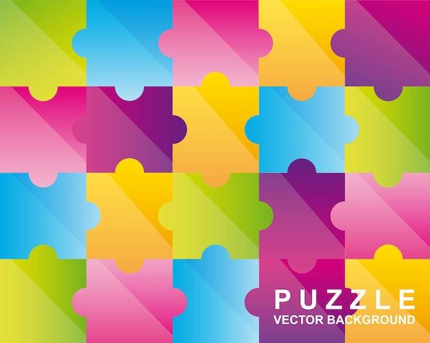 Illustration vectorielle de puzzles colorés fond Vecteur Premium