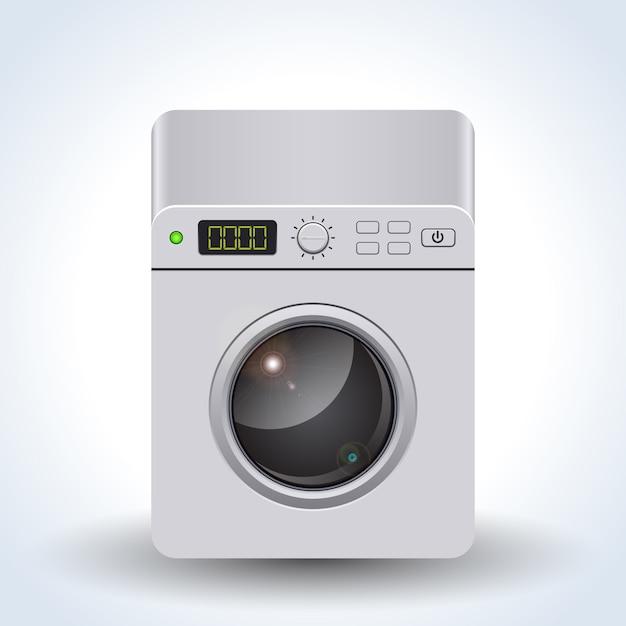 Illustration vectorielle réaliste de machine à laver Vecteur Premium