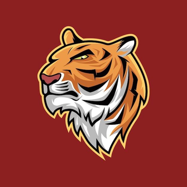 Illustration vectorielle réaliste tête tigre en colère Vecteur Premium
