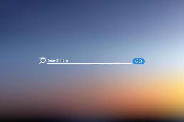 Illustration vectorielle de recherche bar sur fond de ciel Vecteur Premium