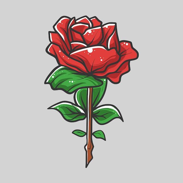 Illustration Vectorielle De Roses Vecteur Premium