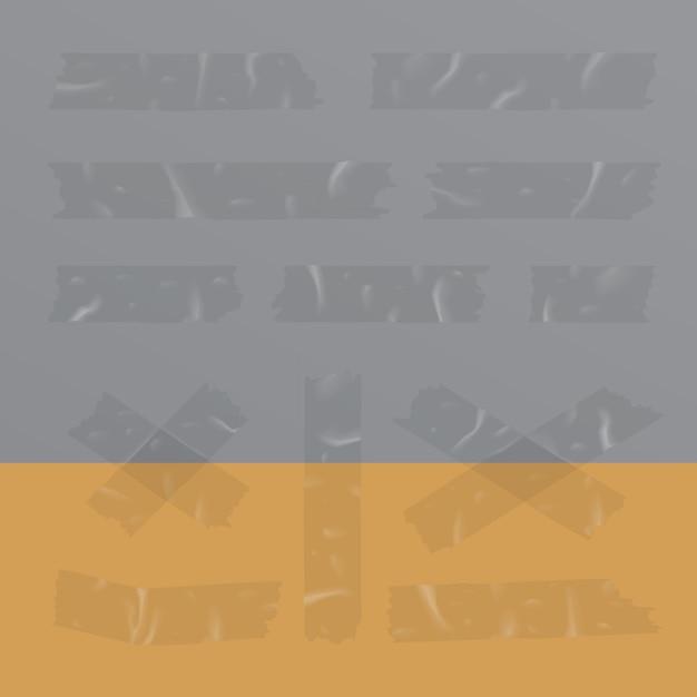 Illustration vectorielle de ruban adhésif transparent isolé Vecteur Premium