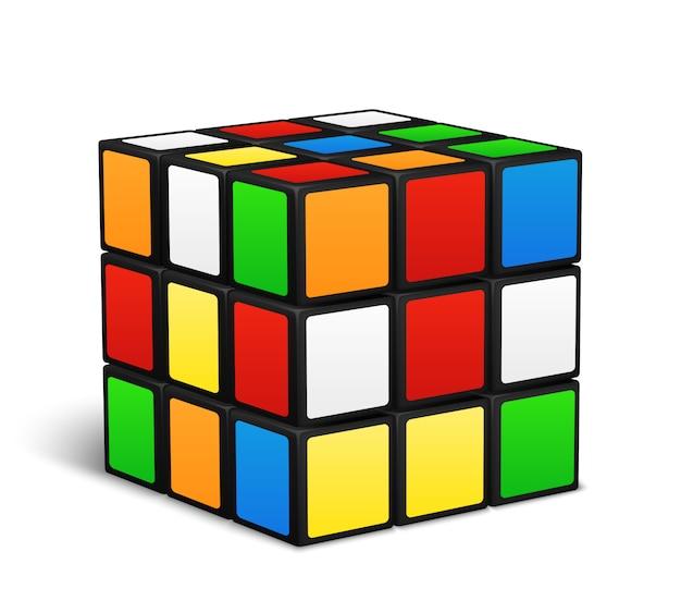 Illustration vectorielle de rubik cube logic game Vecteur Premium