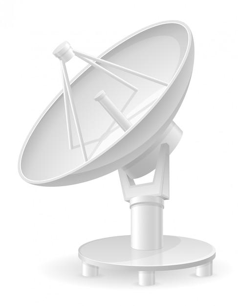 Illustration vectorielle de satellite parabolique Vecteur Premium