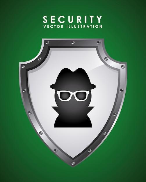 Illustration vectorielle de sécurité design graphique Vecteur gratuit