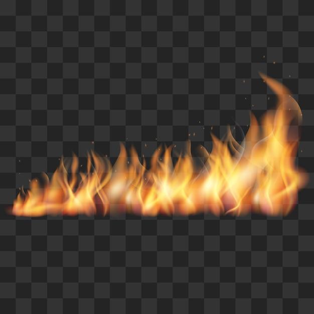 Illustration vectorielle de sentier de feu réaliste Vecteur Premium