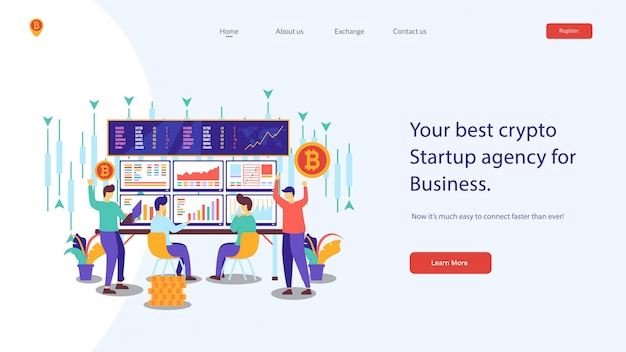 Illustration vectorielle de site web crypto Vecteur Premium