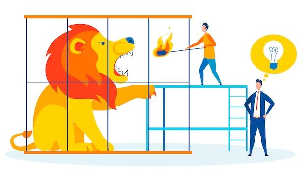 Illustration vectorielle de situation dangereuse métaphore Vecteur Premium