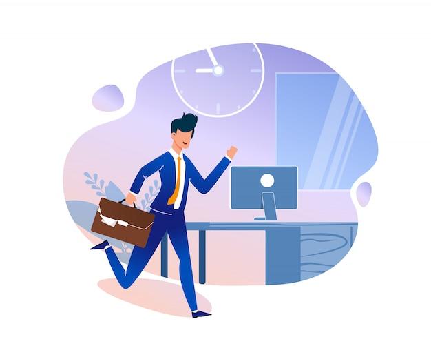 Illustration vectorielle de stratégie de gestion du temps. Vecteur Premium