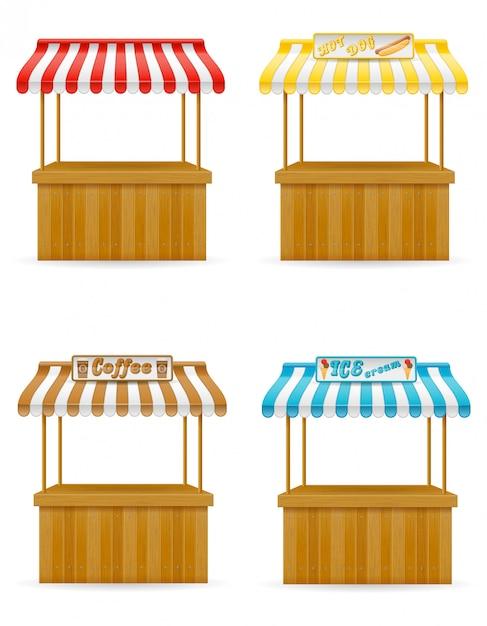 Illustration vectorielle de street food stall Vecteur Premium