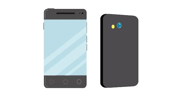 Illustration vectorielle de téléphone portable isolé Vecteur Premium