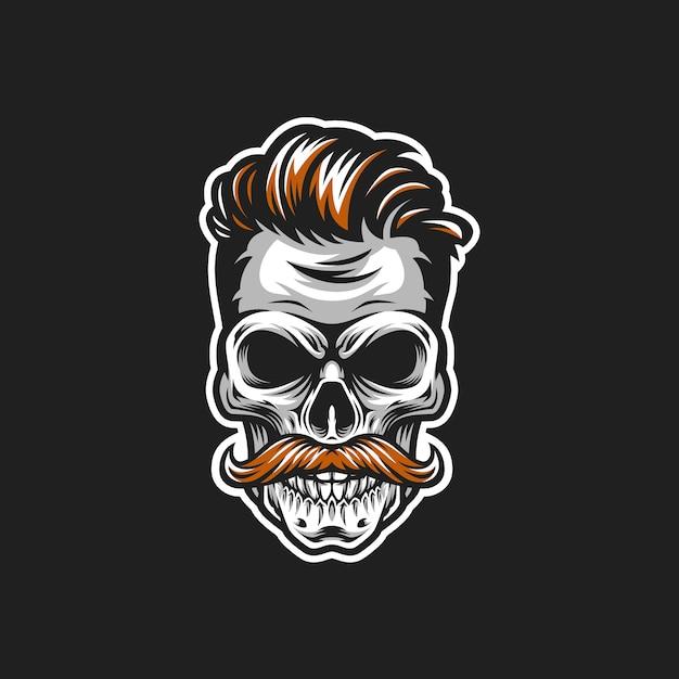 Illustration vectorielle tête hipster crâne Vecteur Premium