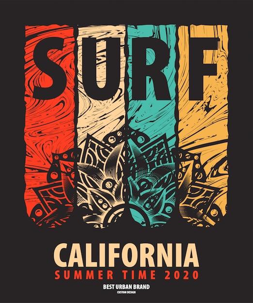 Illustration Vectorielle Sur Le Thème Du Surfeur Vecteur gratuit