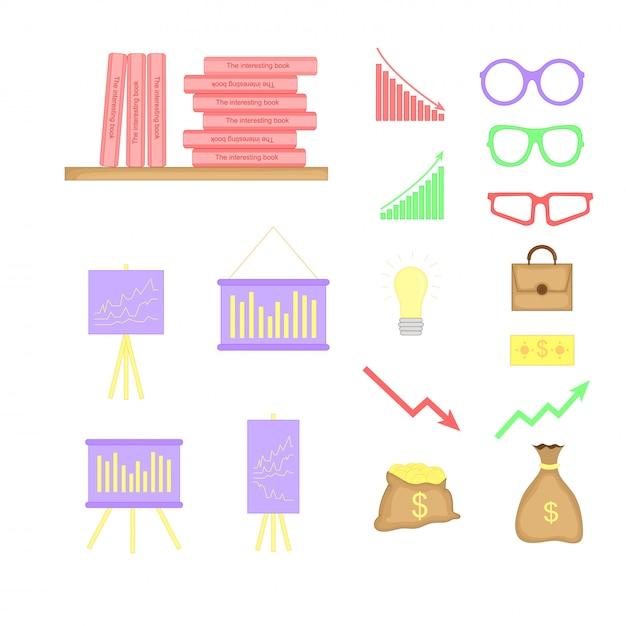 Illustration vectorielle sur le thème de la finance. Vecteur Premium