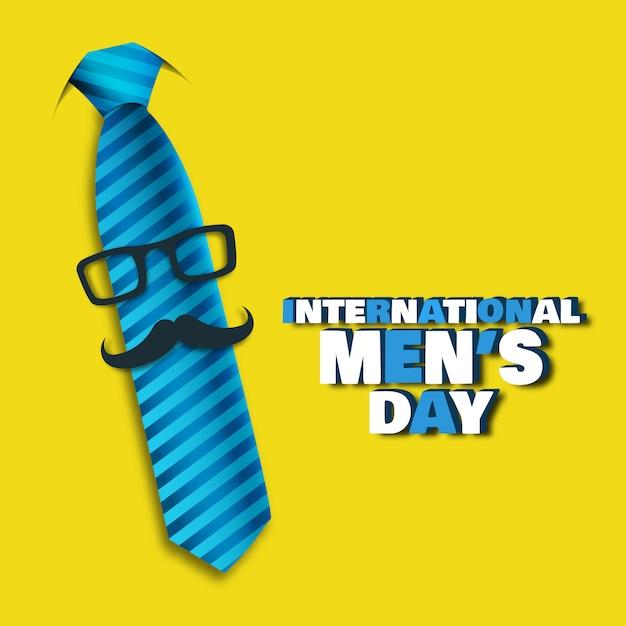 Illustration Vectorielle Sur Le Thème Journée Internationale Des Hommes. Vecteur Premium