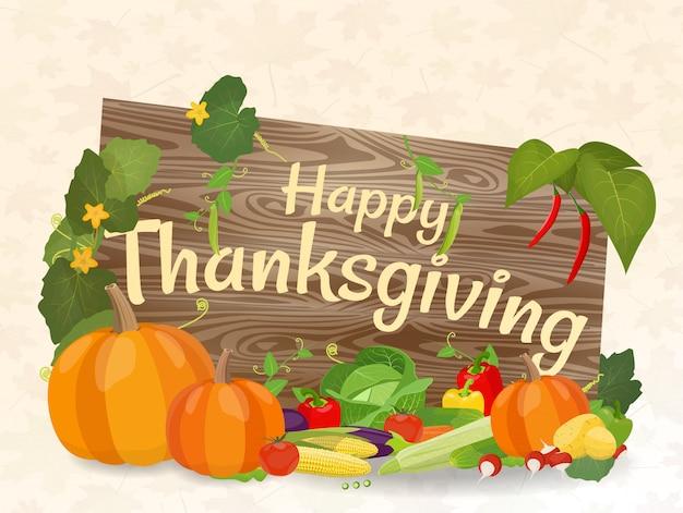 Illustration vectorielle sur le thème thanksgiving day. Vecteur Premium