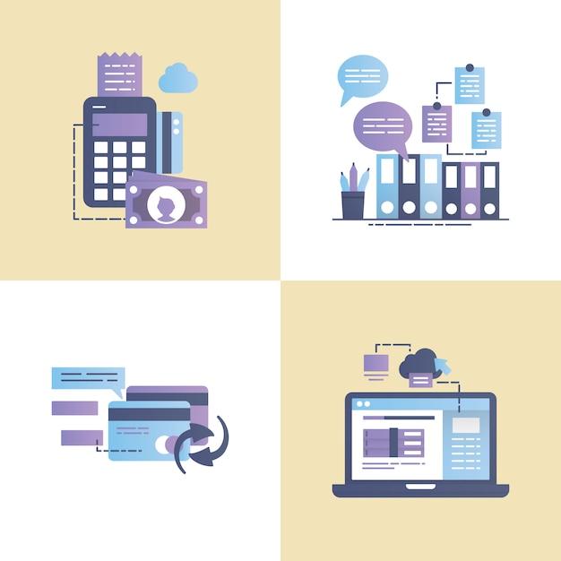 Illustration vectorielle de transaction commerciale Vecteur Premium