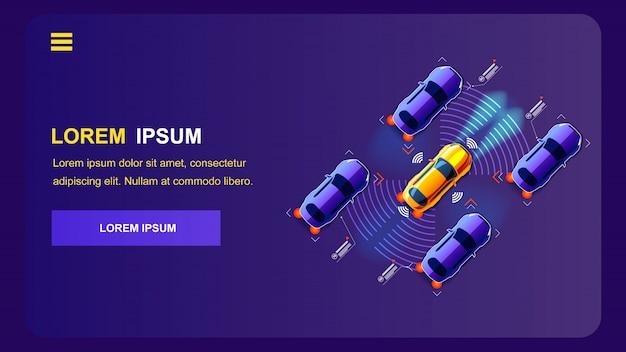 Illustration vectorielle de transport de l'innovation future. Vecteur Premium
