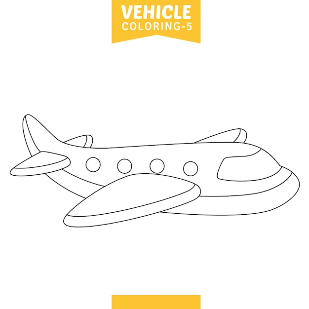 Illustration vectorielle de véhicules à colorier Vecteur Premium
