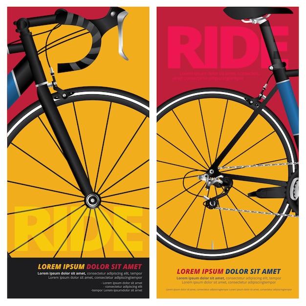 Illustration vectorielle de vélo affiche vélo Vecteur Premium