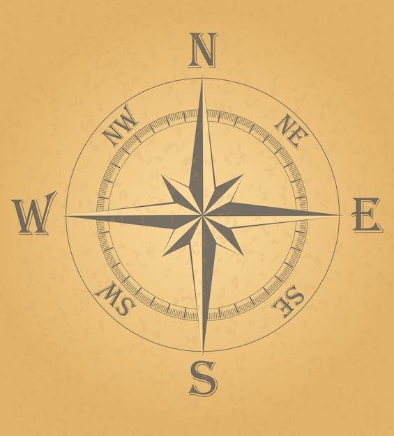 Illustration vectorielle de vent antique Vecteur Premium